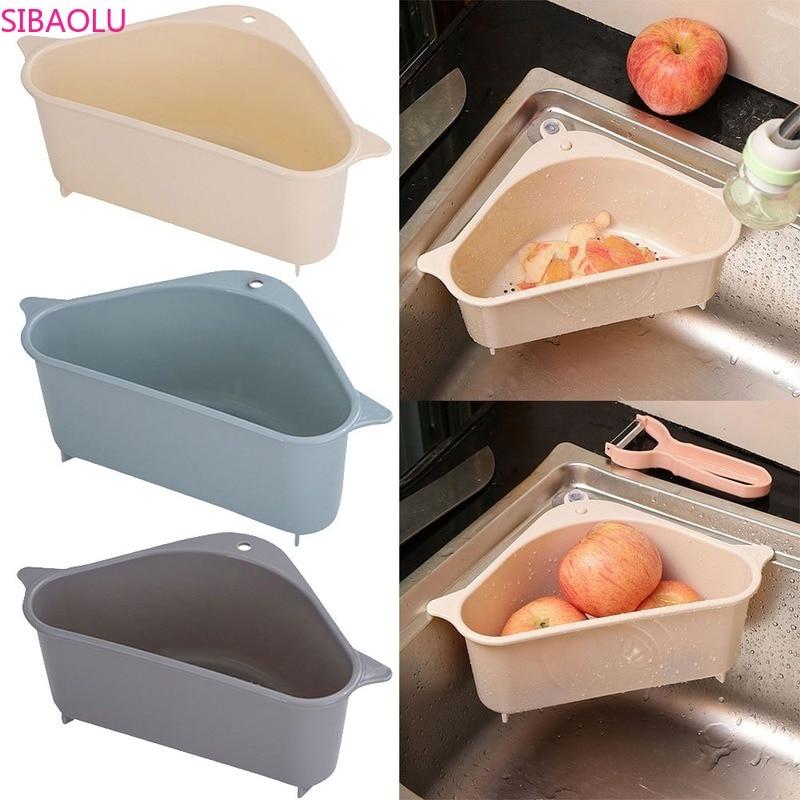 Cozinha autônoma pia sobras suco de sopa é separado por filtro de lixo pia cesta de armazenamento pia rack cozinha ferramenta