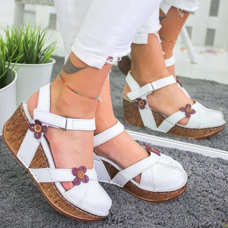 Sandalias de verano para mujer, sandalias con plataforma de cuña, tacón alto, sandalias de mujer, envío directo, sandalia feminina