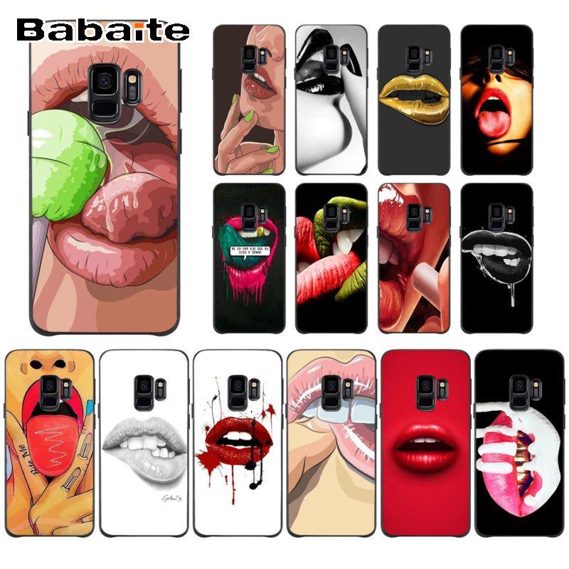 Sexy Hot Girl lip Secret of Super heros Unique Design Phone Cover For Samsung Galaxy s10 s10plus s6 s9 s8 plus s7 s6edge cases