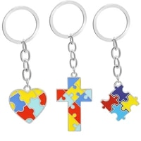 european and american new keychain best friends friends love cross colored mosaic drop oil pendant