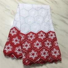 Haute qualité suisse Voile dentelle 2019 africain dentelle tissu africain suisse coton brodé Atiku homme tissu pour robe de soirée PL06301