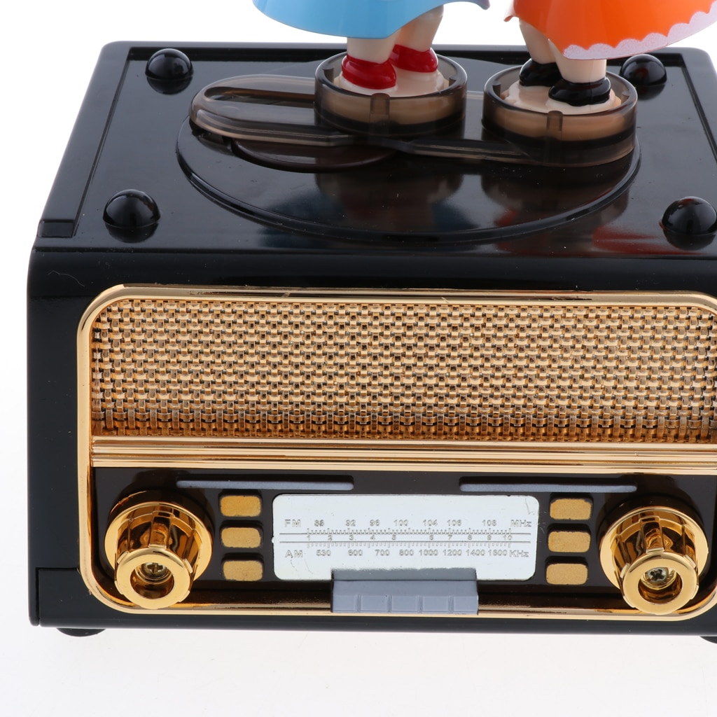 Radio Music Box Classic Nostalgic Ornaments Instrument Musical Toys For Kids