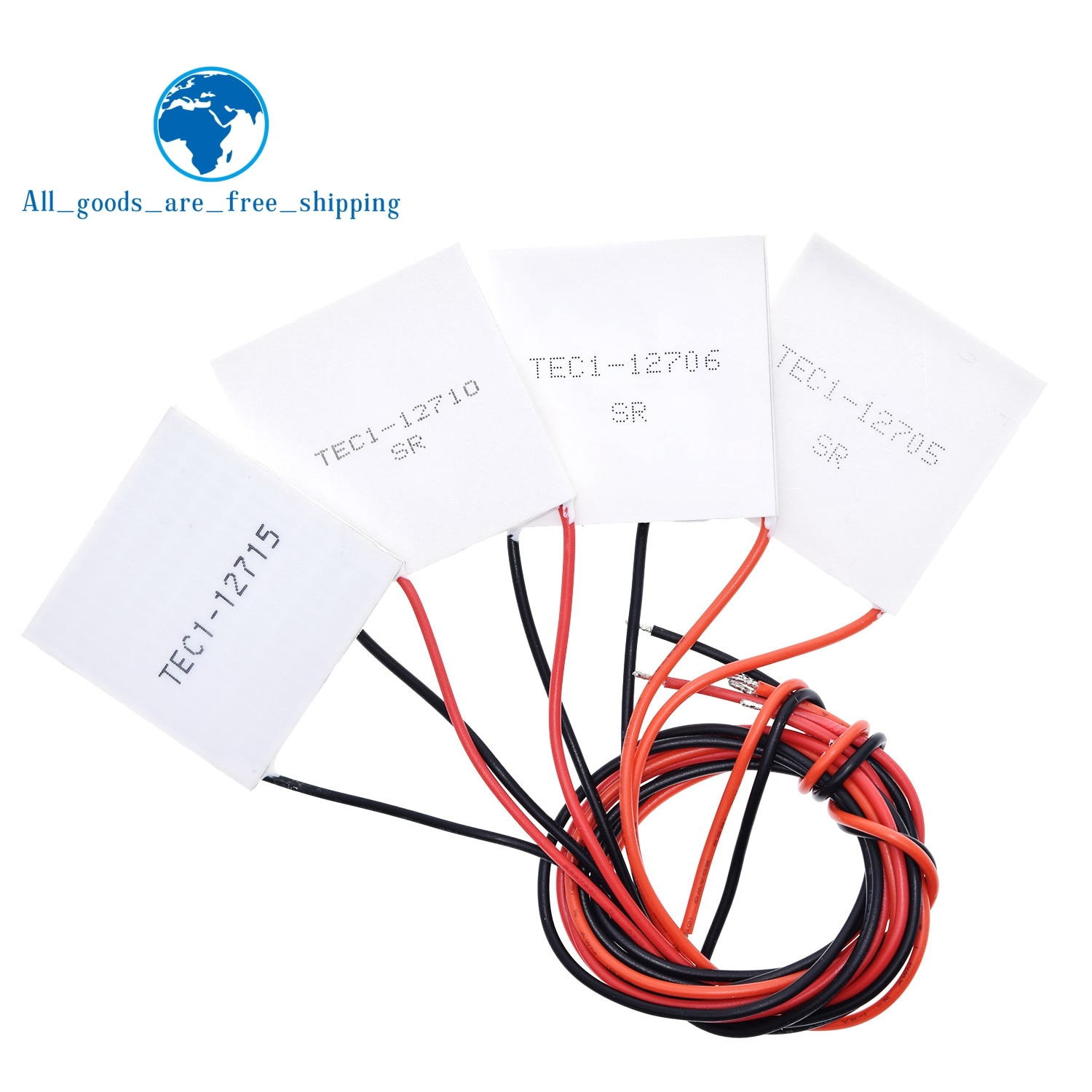 TEC1-12705 refrigerador termoeléctrico Peltier TEC1-12706 TEC1-12710 TEC1-12715 40*40MM 12V Peltier Elemente módulo