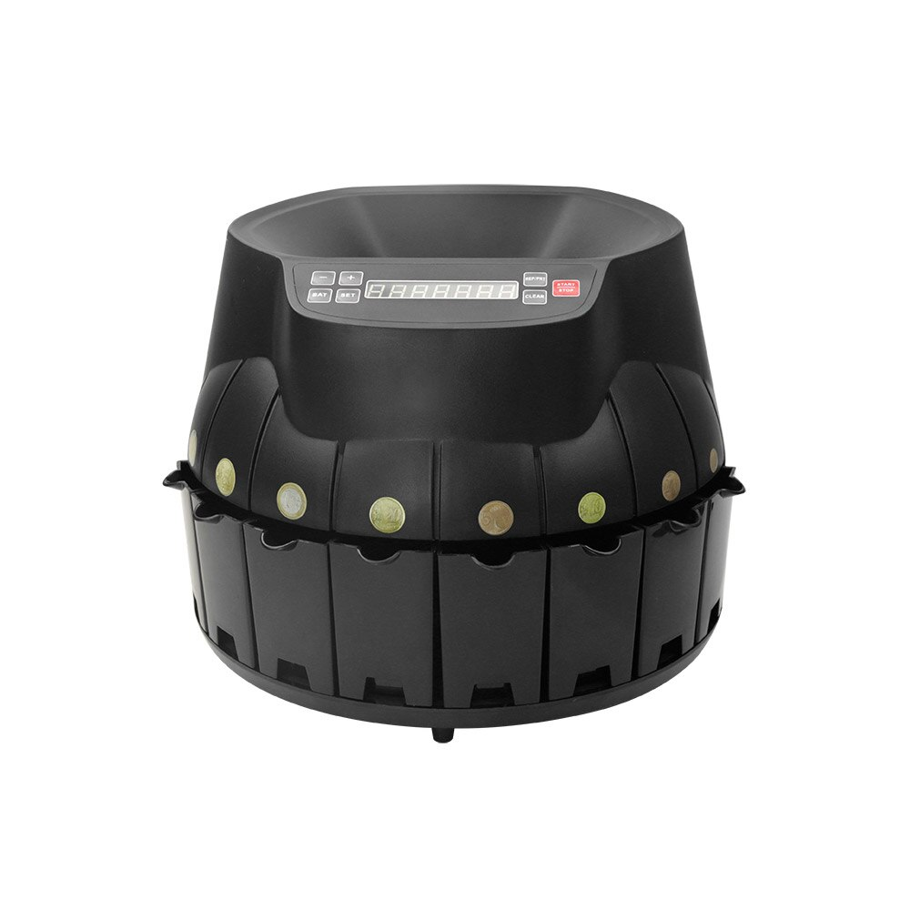 Máquina de contador de clasificador de monedas electrónico autodiagnóstico soporte de pantalla LED conteo añadir modos de lotes para monedas de EURO