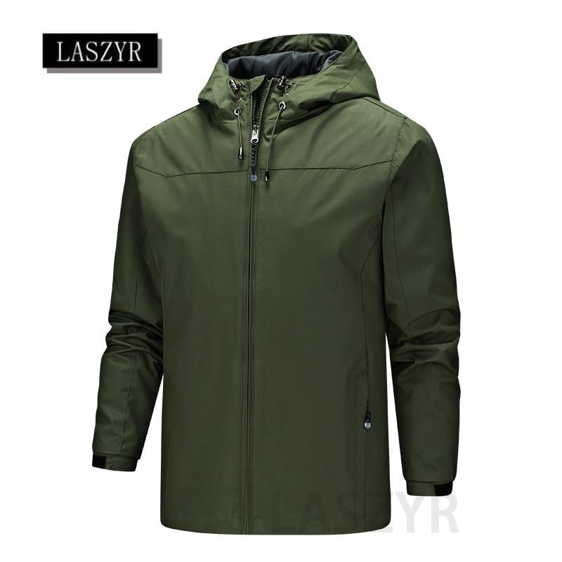 2021 мужской однотонный Цвет пальто Мужская модная зимняя Лыжная куртка светильник куртка на молнии Водонепроницаемый куртка пальто с капюш...