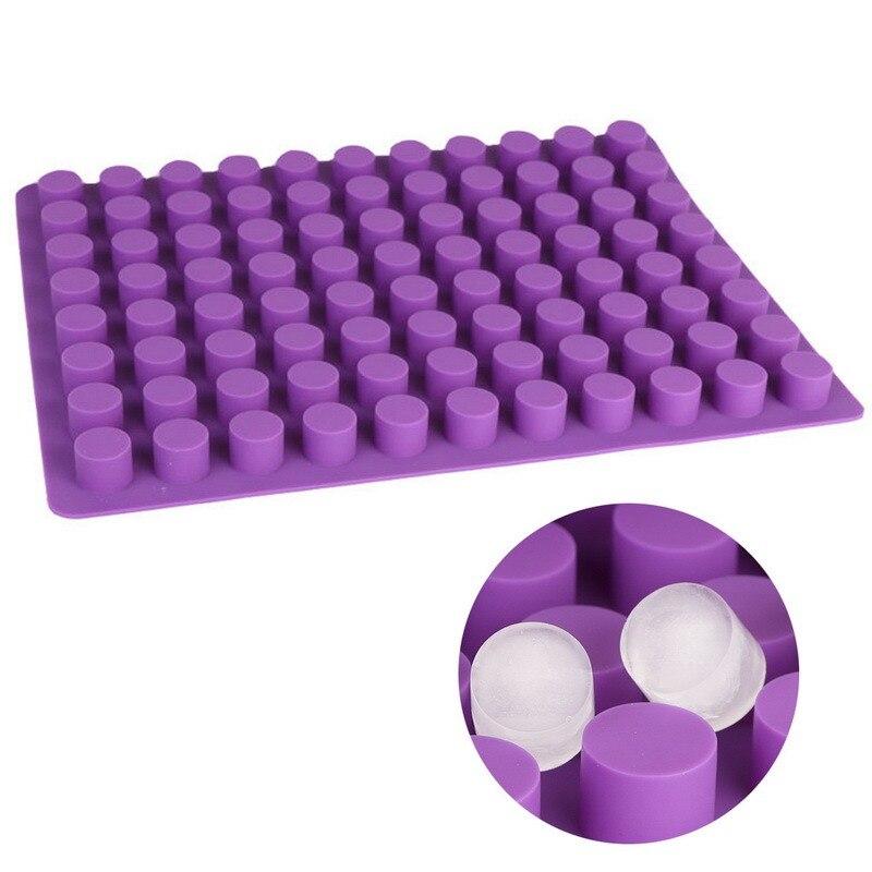 88 redes Mini bandejas de cubitos de hielo con tapas removibles de cubo de hielo de Gel molde cilíndrico de queso moldes de silicona hielo molde