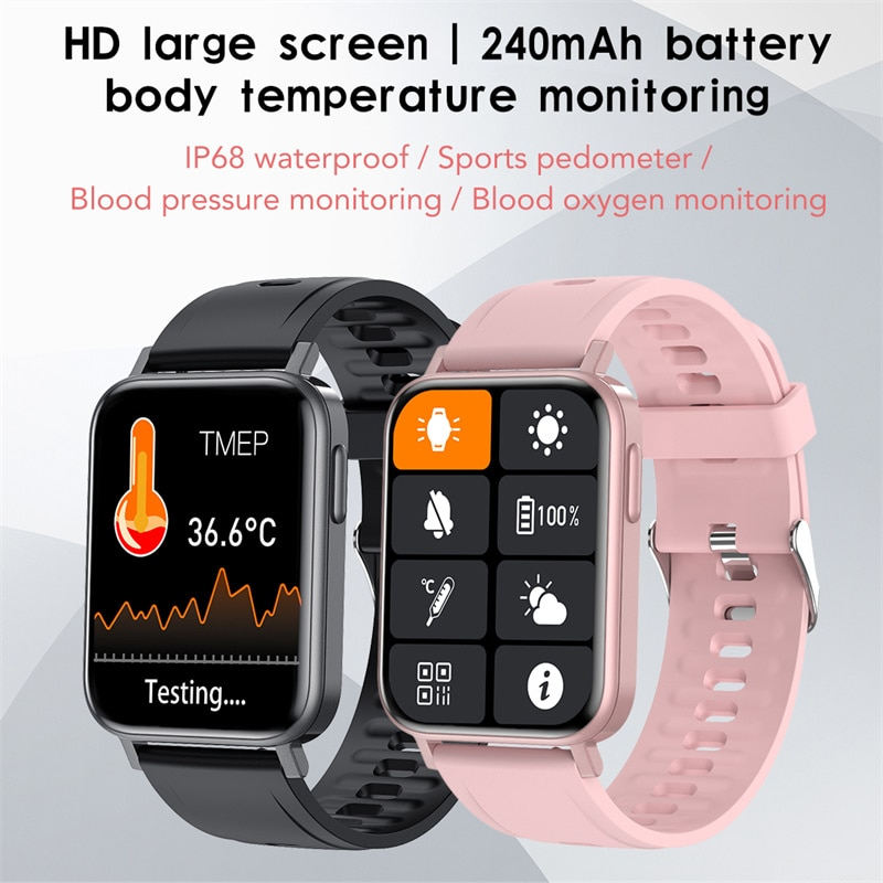 2021 New Full Touch Smart Watch Men and Women Sports Clock IP68 Waterproof Heart Rate Monitoring SmartWatch For Android