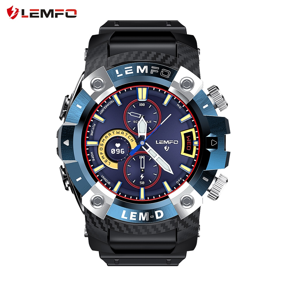 LEMFO 2020 LEMD Smart Watch Wireless Bluetooth 5.0 Earphone 2 In 1 360*360 Full Touch HD Screen Sport Smartwatch Men For Android