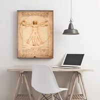 canvas printings poster and painting art vitruvian man study of proportions by leonardo da vinci home decor obrazy %d0%ba%d0%b0%d1%80%d1%82%d0%b8%d0%bd%d1%8b
