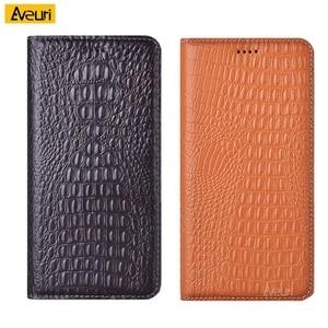 Genuine Leather Flip Phone Case For Xiaomi Redmi 3 4 Stand Pro Prime 5 Plus 6 7 8 9 Crocodile Cover For Redmi 6 Por A2 Lite Case