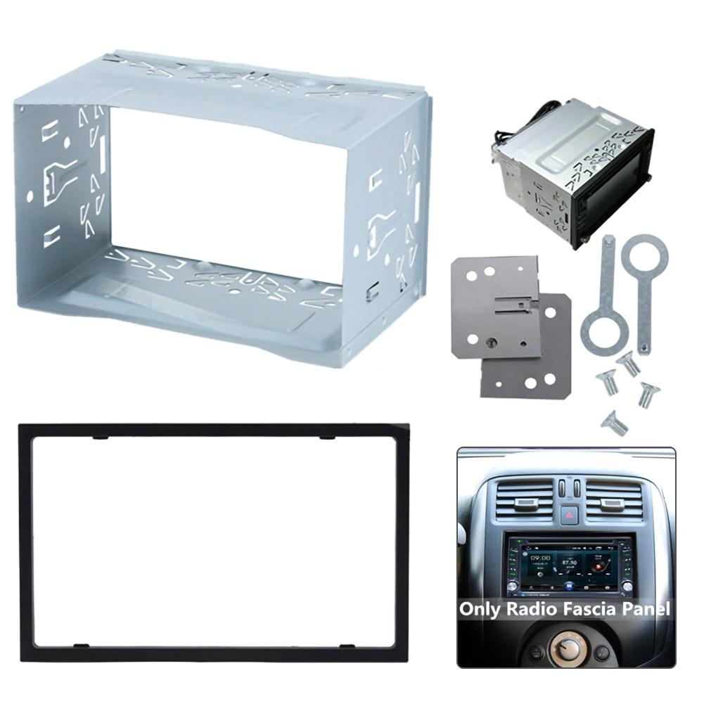 2 DIN Radio Installation Frame Unit Universal Cage Radio Vehicle Case Car DVD Player Framework Mounting Plate Frame