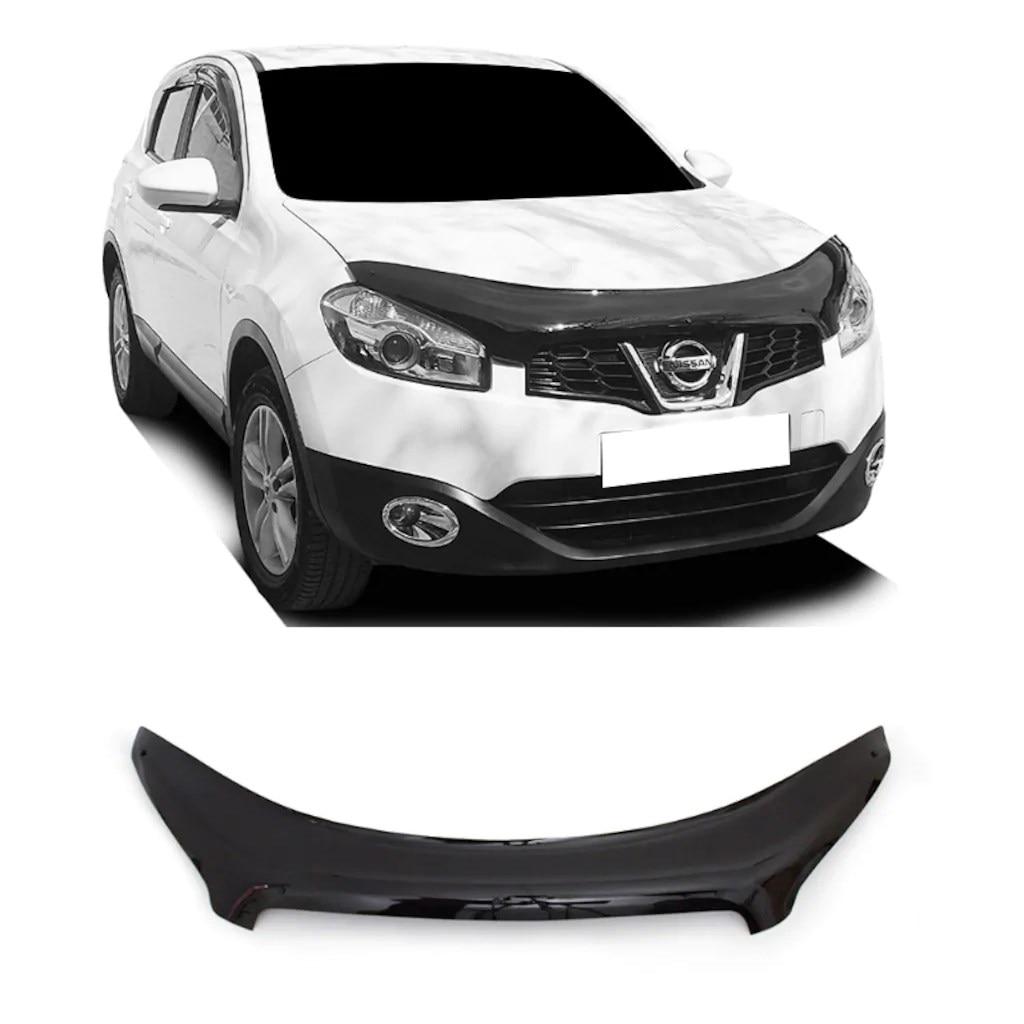 Para Nissan Qashqai 2010 2011 2012 2013 capó protector de insectos delantero capó protector de deflectores