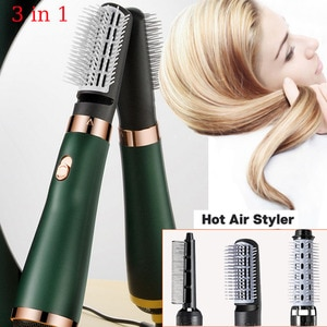 New Electric Hair Dryer Blow Dryer Comb Rotating Hot Air Brush 3 In 1 Hairdryer Hair Blower Brush Hair Curler  Auto Curling Iron