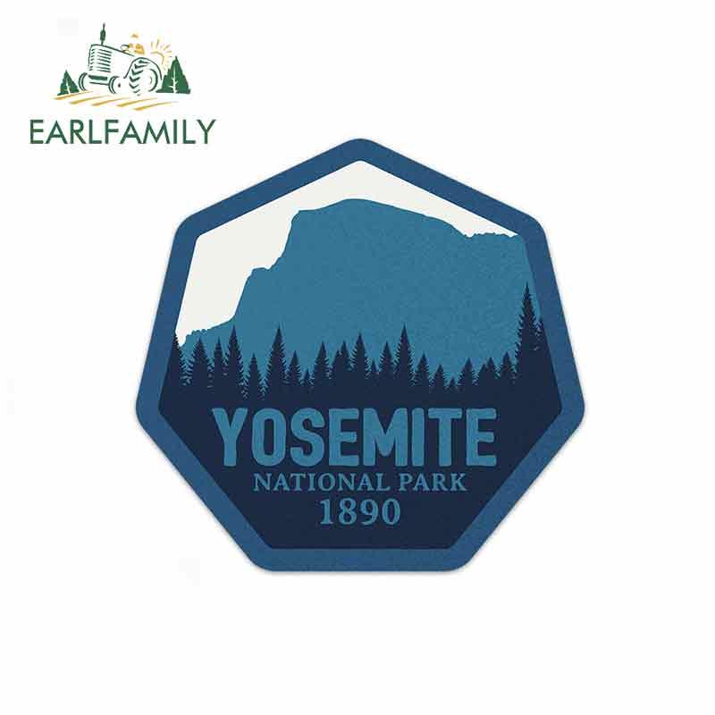 EARLFAMILY 13cm x 12,4 cm para el Parque Nacional Yosemite pegatinas y calcomanías de coches azules para cualquier pegatina de superficie lisa y plana limpia