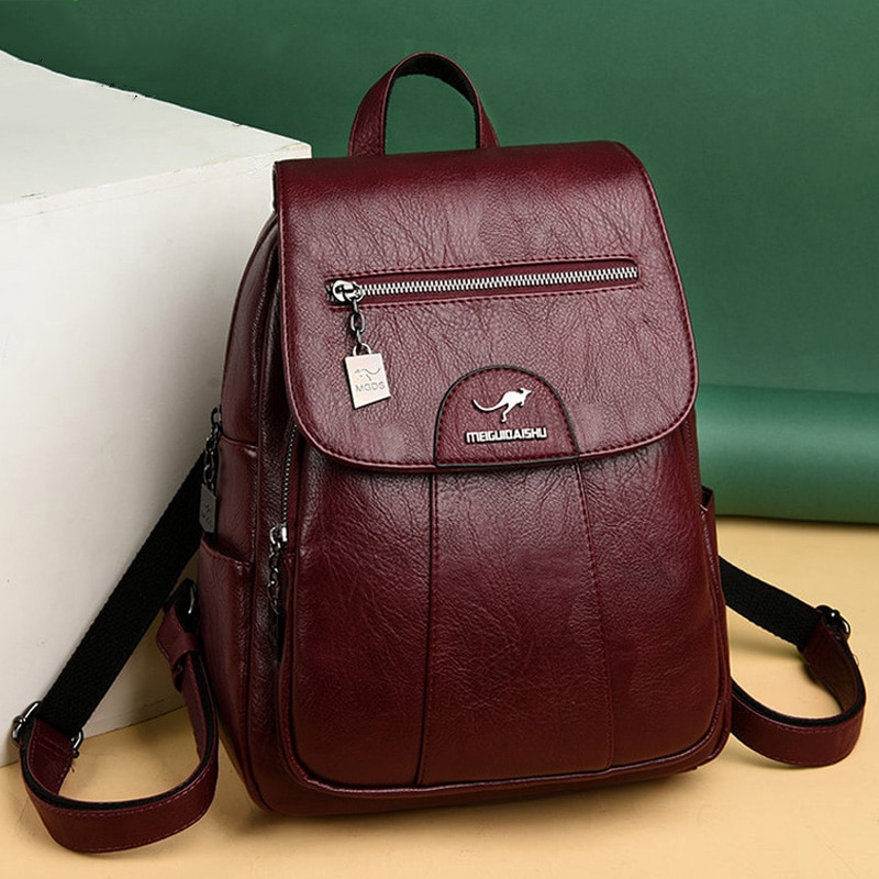 2020 Women Leather Backpacks High Quality Vintage Ladies Backpack For Girls Sac A Dos School Bagpack Women Backpacks Female New