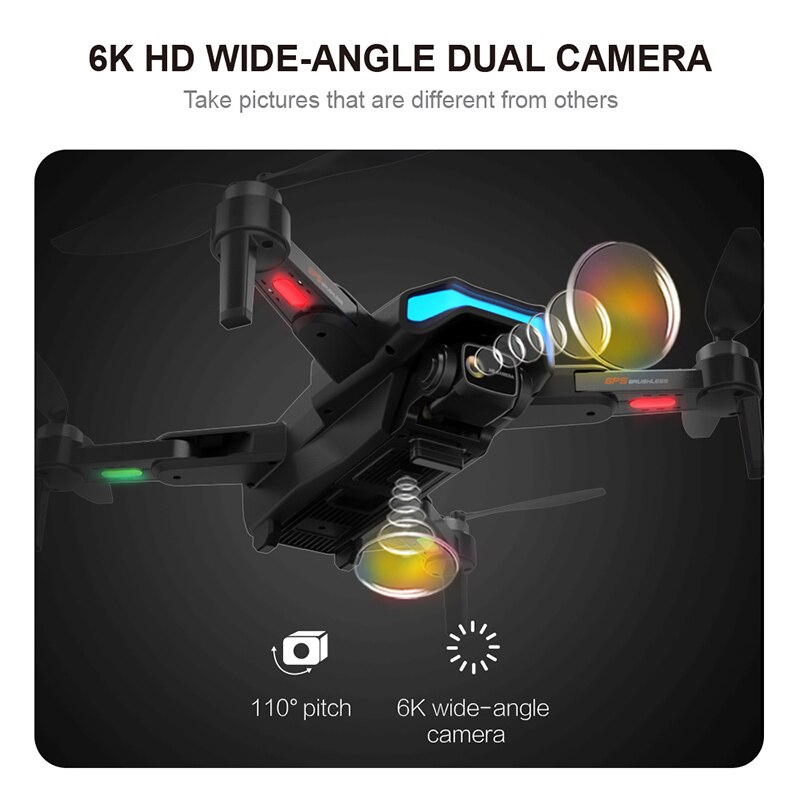 FEMA F188 Drone with Camera 6K GPS 1KM Long Distance 5G WiFi FPV Brushless Professional Foldable Dron Quadcopter PK L900 SG108 enlarge