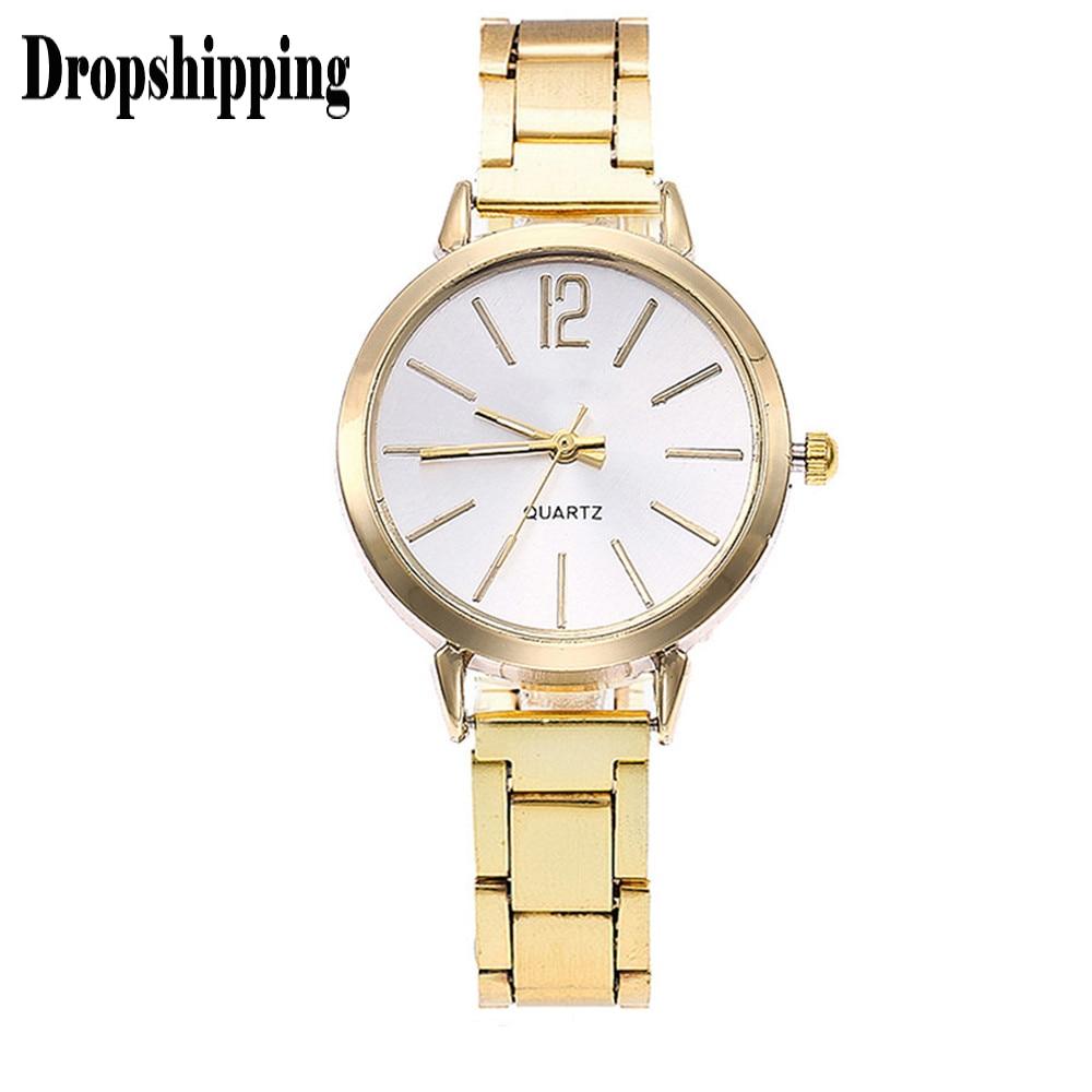 Relojes de pulsera de cristal para mujer 2019, reloj de cuarzo de marca superior para mujer, reloj de pulsera de acero completo para mujer, reloj femenino # ZH