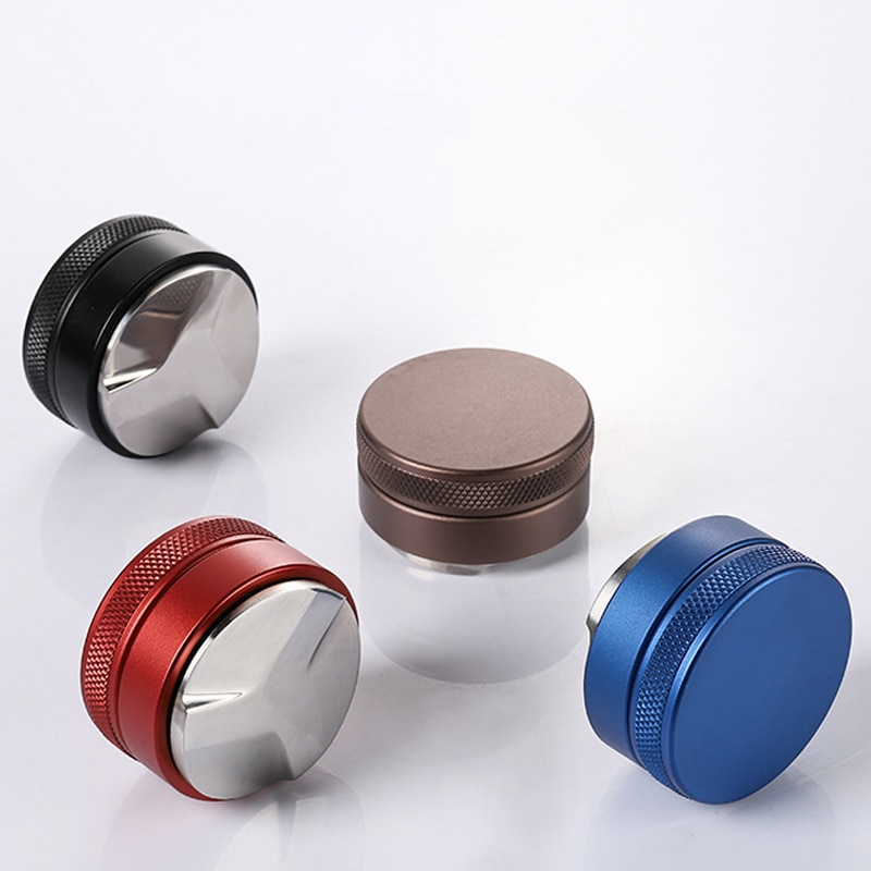 51mm 53mm 58mm 58.35mm Espresso Coffee Tamper Adjustable for Barista Flat Stainless Steel Base Bean Press