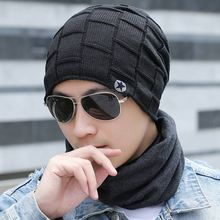 2019 hommes mode hiver Beanie chapeau solide décontracté tricoté bonnets casquettes Gorros automne chapeaux pour hommes garçons * russie STOCK