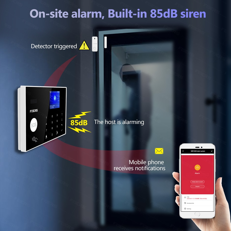 4G Tuya Alexa Wifi GSM alarm systems 3MP Outdoor Camera  security Alarm Smart Home Burglar Alarm  System Motion Detection enlarge