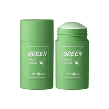 Green Tea Cleansing Solid Mask Eggplant Purifying Clay Stick Mask Oil Control Anti-Acne Mud Cream Be