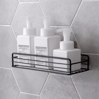 the new multifunctional iron bathroom rack toilet free punching toilet and toiletries wall mounted storage rack
