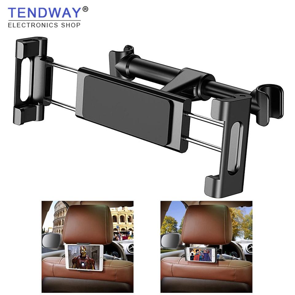מושב אחורי הר לוח רכב מחזיק עבור iPad אוויר מיני פרו iPhone Xs X סמסונג מושב אחורי רכב מחזיק טלפון Stand הר 360 סיבוב