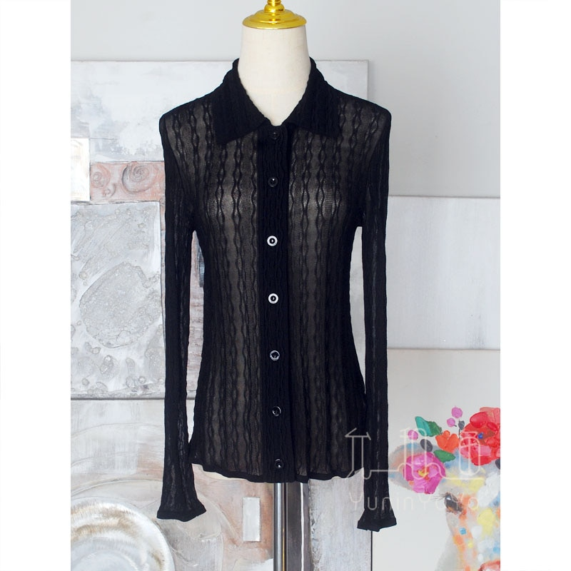 Very delicate, 18 stitches as thin as cicada wings, a variety of three-dimensional jacquard women's  knitting Cardigans