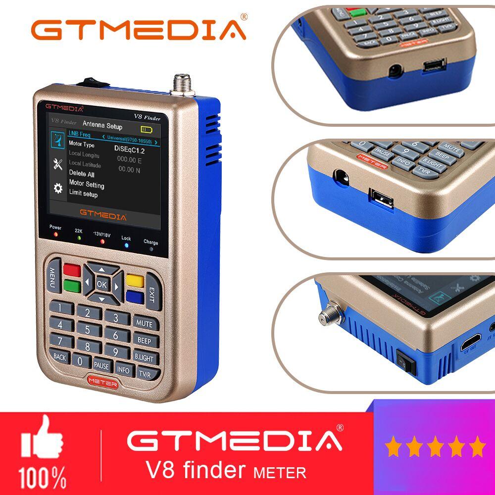 Medios GT V8 buscador Metro DVB-S2/S2X buscador Digital por satélite alta definición Sat Finder 1080P receptor de señal Sat decodificador ACM