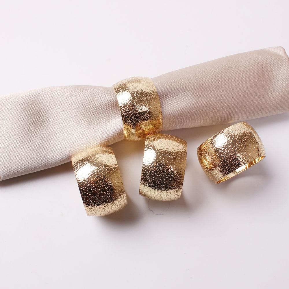 10 قطعة بسيطة الراقية طبل على شكل الذهبي مليء بالنجوم خاتم منديل الذهبي منديل مشبك منديل الدائري