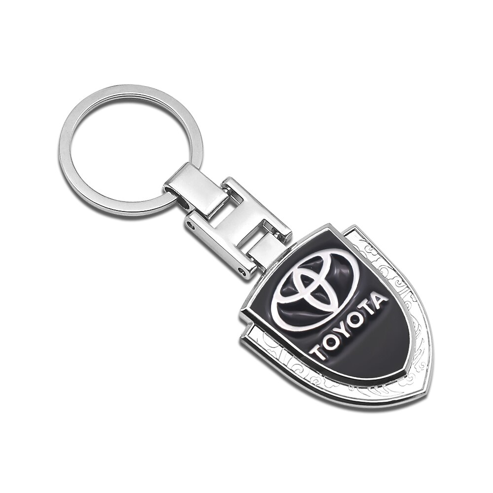 Carro chaveiro logotipo do carro metal anel chave pingente de carro estilo do carro para toyota prius avensis rav4 auris yaris verso land cruiser camry