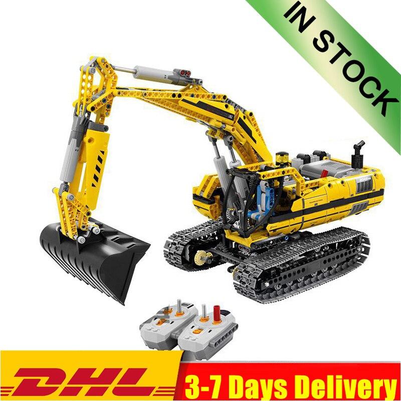 En existencia 20010 20007 grúa excavadora técnica sobre orugas modelo de grúa torre móvil bloques ladrillos juguetes 8043 42042