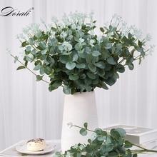 Feuilles artificielles vertes   Grande feuille deucalyptus, plantes mur, fausses plantes décoratives pour maison, magasin, décoration fête jardin