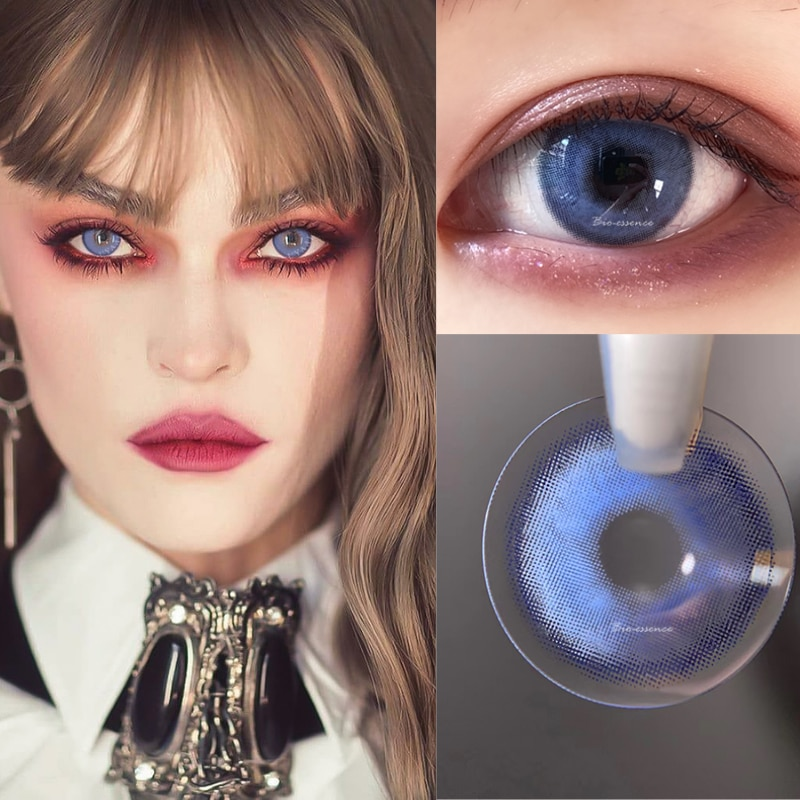 2pcs/Pair Eye Contact Lenses Year Use Colored Contact Lenses for Eyes Colorful Contact lens Soft Colored Contact Lenses UYAAI 2pcs pair colored contact lenses love words series eye contact lenses year use color contact lens for eyes lentes de contacto