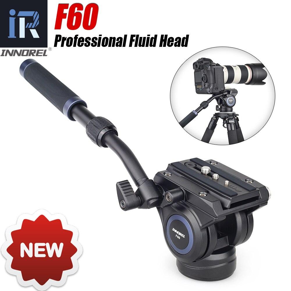 Профессиональная головка для видеокамеры INNOREL F60, штатив с подвижной головкой для dslr-камеры s, видеокамеры, телеобъектив