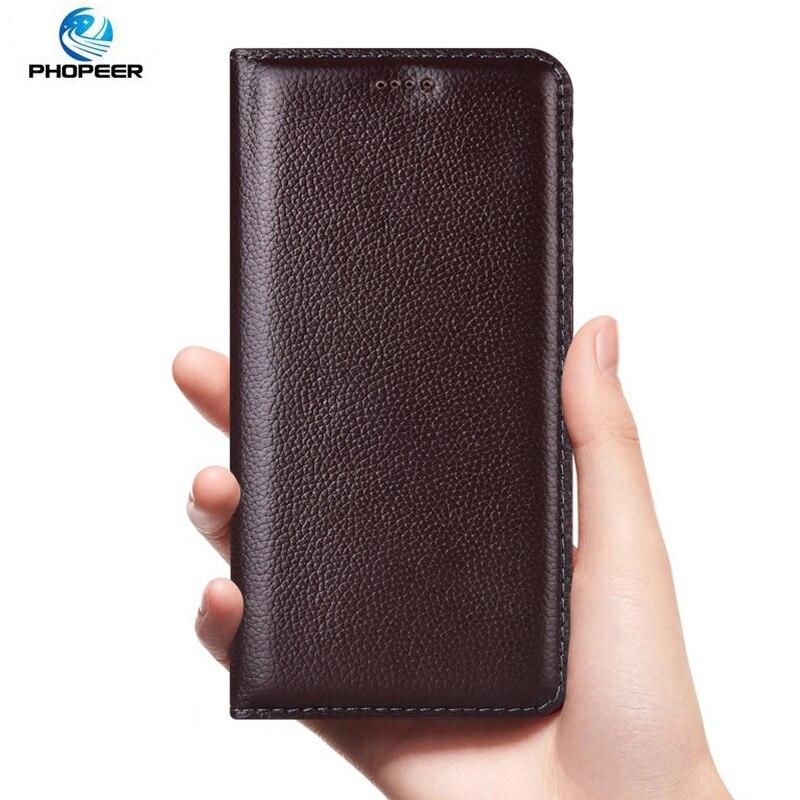 Funda de cuero genuino Litchi para Samsung Galaxy J2 J3 Pro J2 Core J4 J6 J8 Plus 2018 fundas de teléfono móvil de lujo con tapa
