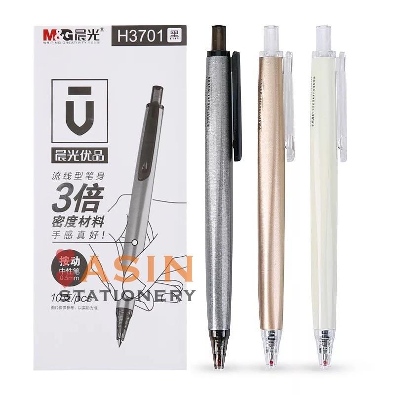 10 шт. M & G U серии пресс гелевая ручка AGPH3701 черный 0,5 мм Бизнес Офис Подпись Ручка канцелярия для учеников