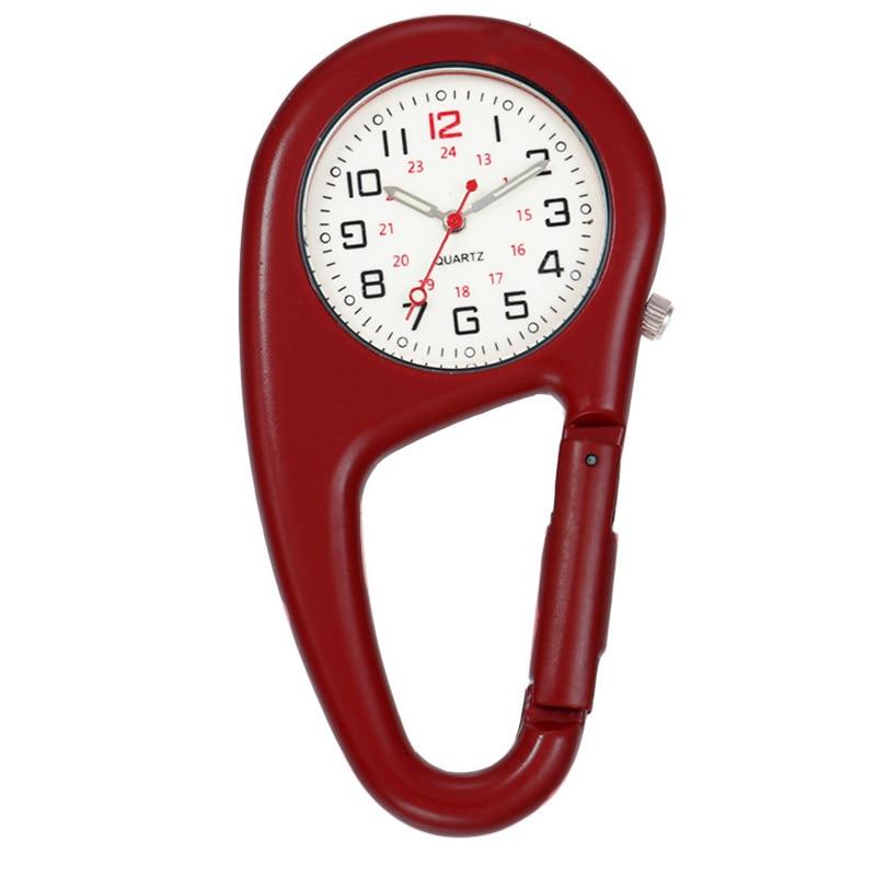 Mosquetón clip reloj de bolsillo para enfermera fob relojes deportivos médicos reloj vintage montañismo equipo deportivo dropshipping