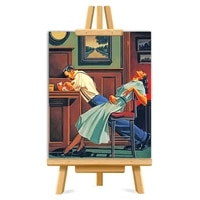 vintage couple picture diy painting by numbers colouring zero basis handpainted oil painting unique gift home decor