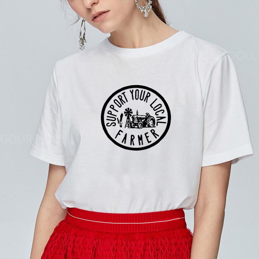 Camiseta divertida de granjero Local, Camiseta de Mujer, Camiseta holgada, Camiseta de...
