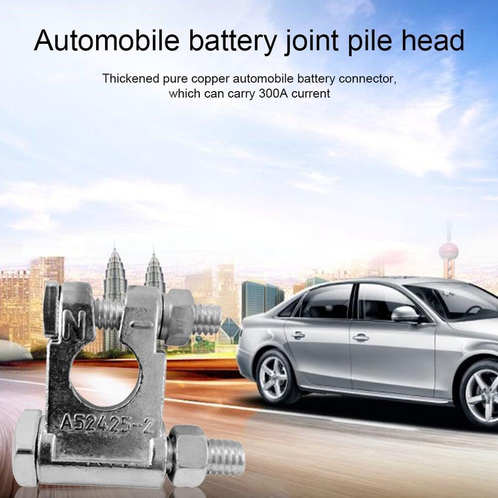 Aleación de Zinc engrosada conector de batería de coche Universal pila de batería cabezal de batería Clip de almacenamiento Terminal de batería