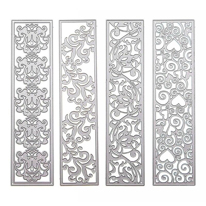 Flower Pattern Border Metal Cutting Dies Stencil Scrapbooking DIY Album Stamp 72XF
