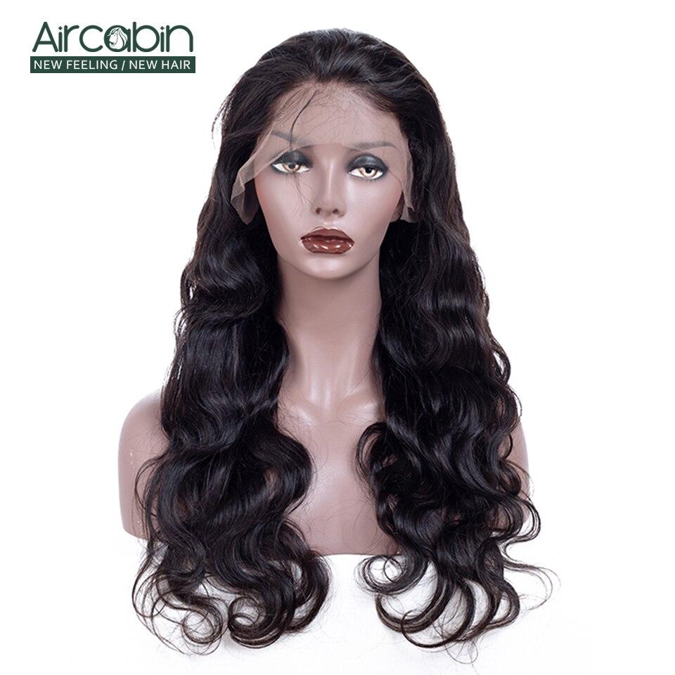 AirCabin бразильские полные кружевные человеческие волосы парики 12