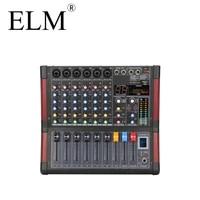 6 channels audio power mixer effect sound amplifier mixer dj console professional digital echo mixer power amplifier