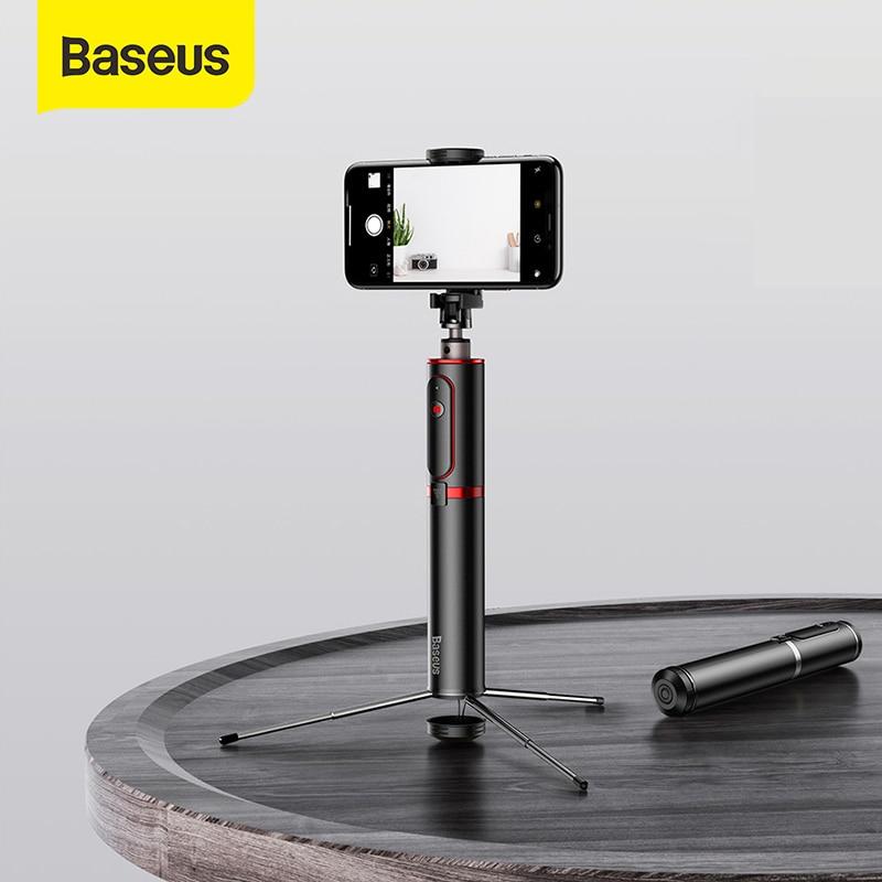باسيوس عصا سيلفي بلوتوث قابلة للتمديد كاميرا الهاتف الذكي ترايبود مع جهاز التحكم عن بعد اللاسلكية آيفون IOS أندرويد