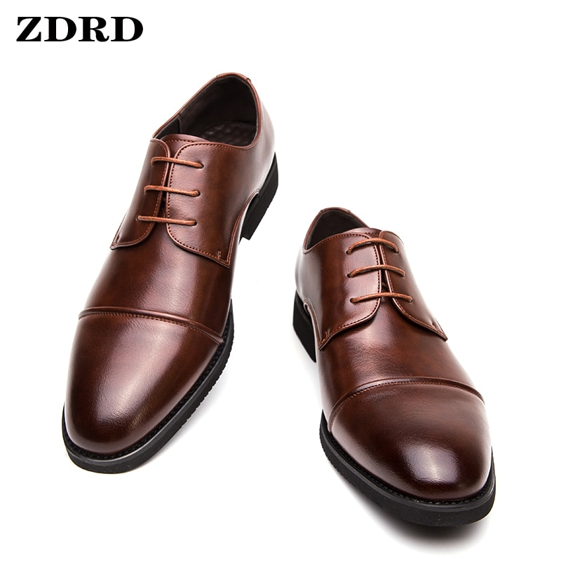 ITALIAN SHOES MEN LEATHER BUCKLE STRAP BUSINESS OFFICE BLACK SHOES LACE UP BROCUE FORMAL POINTED TOE