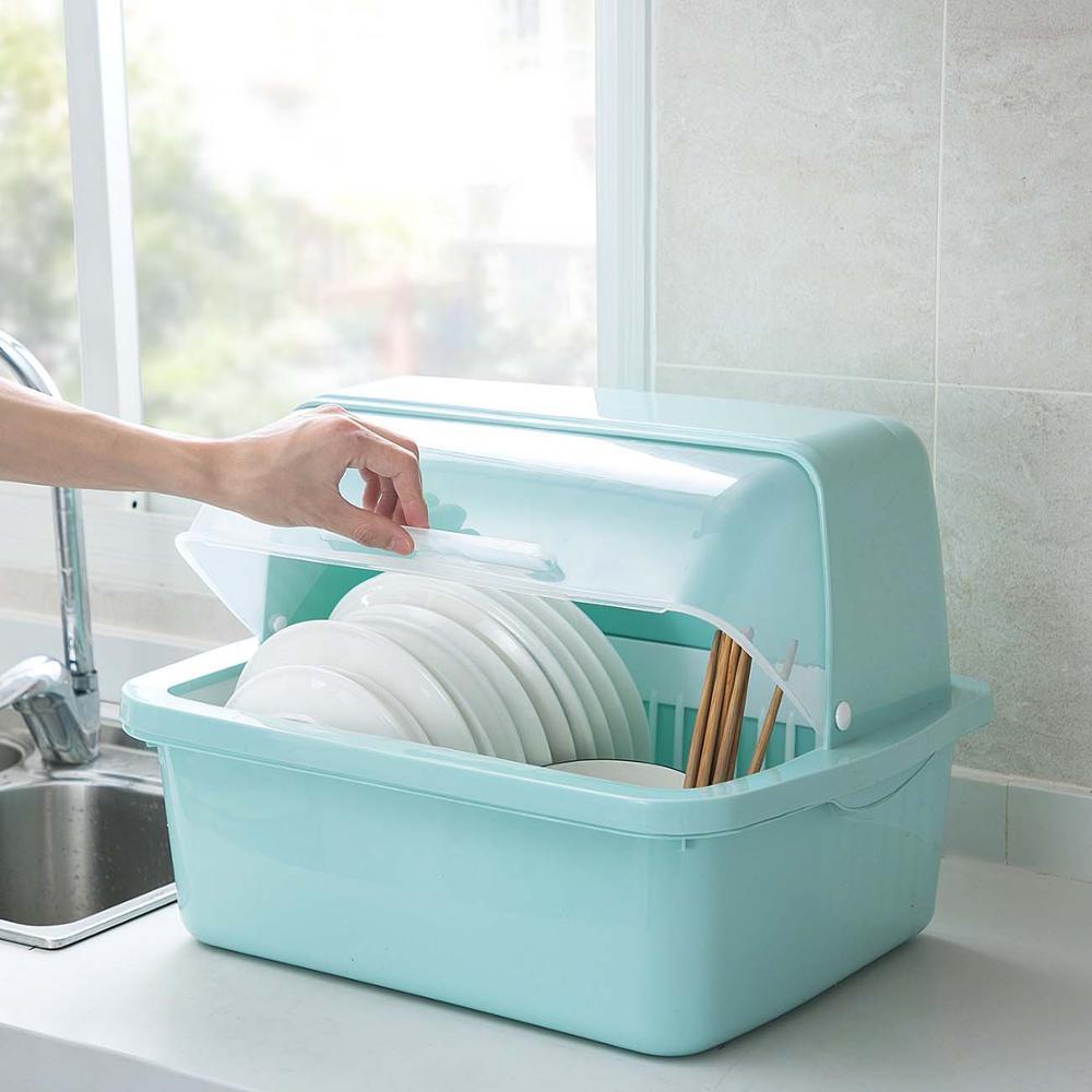 Kitchen Organizer Dish Drying Rack Tableware Storage Basket Box Dish Bowl Holder Drain Shelf Sink Organizer Dish Drainer Basket