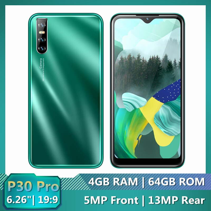 "Original Mobile Phones P30 PRO 4G RAM 64G ROM 6.26"" 19:9 Android Celulares 13MP Face Recognition Unlocked P35 MINI Smartphones"
