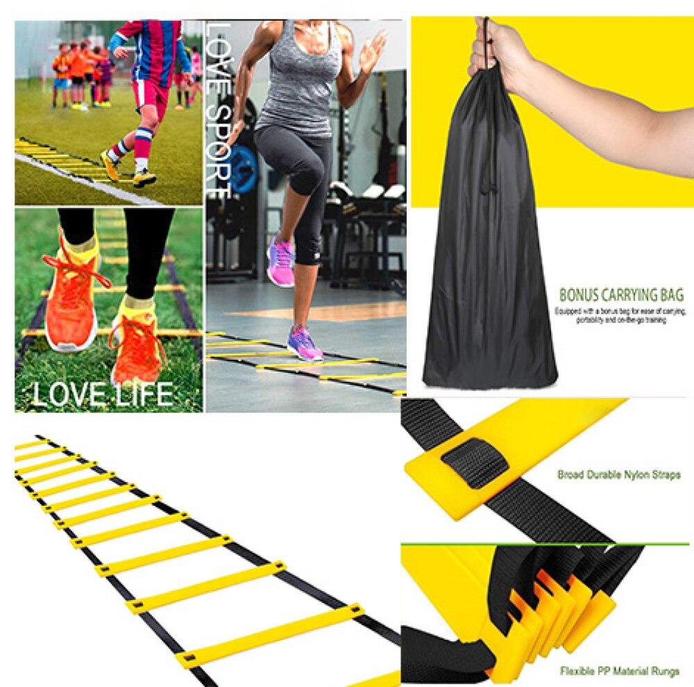 Женская лестница, оборудование для фитнеса, нейлоновые лестницы для тренировок в тренажерном зале, лестница для фитнеса, футбола, скорость