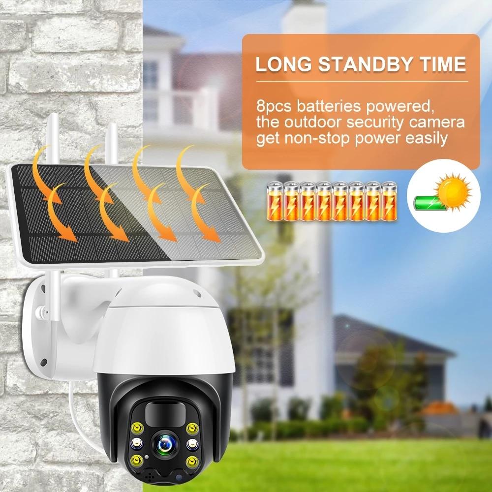 Tuya Smart Life 4G Solar Powered Battery Wifi Camera 360 Wireless PTZ PIR Speed Dome Camera 4G Sim Card Solar Intelligent Energy